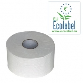 Toiletpapier Jumbo Mini Ecolabel,  tissue wit, 2-lgs